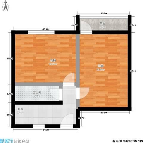 采荷翠柳2室0厅1卫1厨50.20㎡户型图