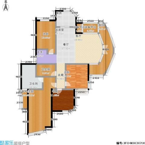 天运花园4室0厅2卫1厨178.00㎡户型图