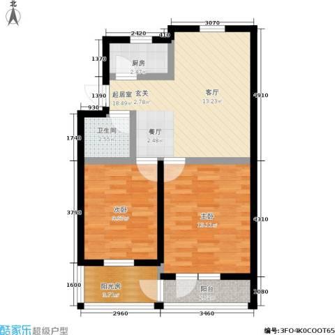 采荷翠柳2室0厅1卫1厨62.28㎡户型图