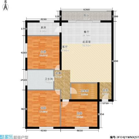 圆梦园3室0厅2卫1厨140.00㎡户型图