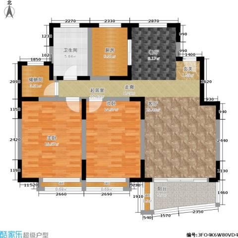 万荣阳光苑2室0厅1卫1厨91.00㎡户型图