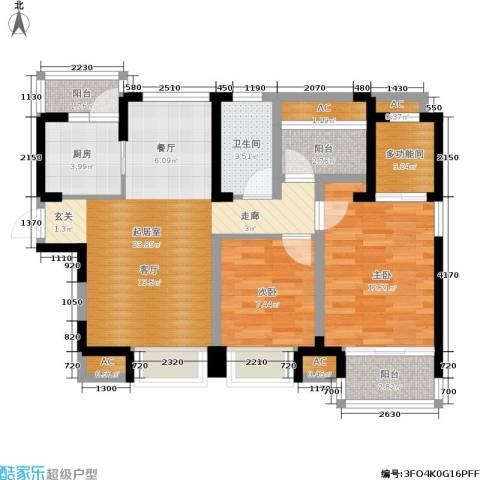 中海・金溪园2室0厅1卫1厨89.00㎡户型图