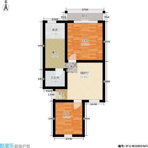 灯塔新村2室1厅1卫0厨60.00㎡户型图
