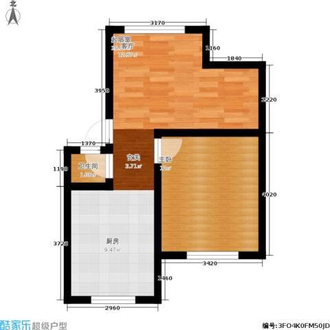 施家花园1室0厅1卫0厨44.00㎡户型图