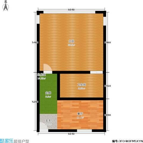 施家花园1室0厅1卫0厨65.00㎡户型图