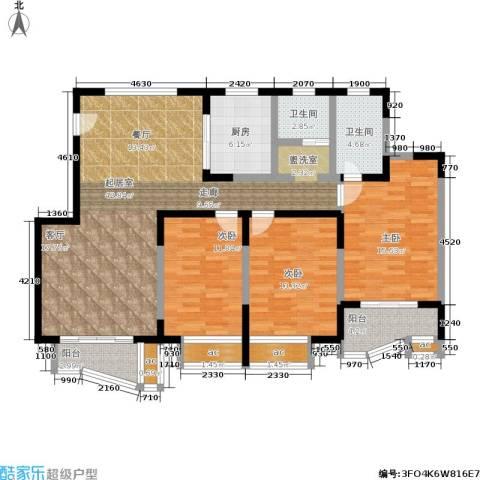 万荣阳光苑3室0厅2卫1厨127.00㎡户型图