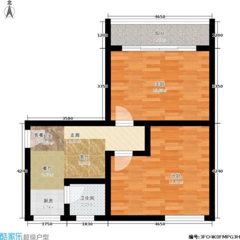 树园2室1厅1卫0厨56.00㎡户型图
