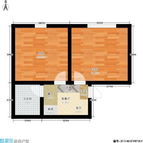 树园2室1厅1卫0厨43.00㎡户型图