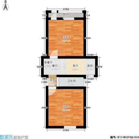 景芳三区2室1厅1卫0厨47.00㎡户型图