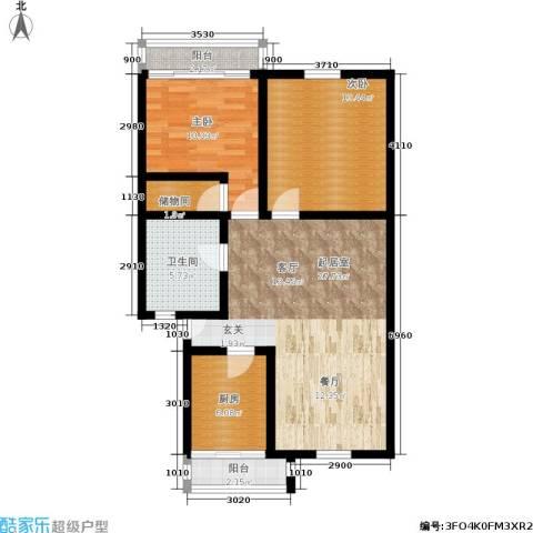 施家花园2室0厅1卫1厨81.00㎡户型图