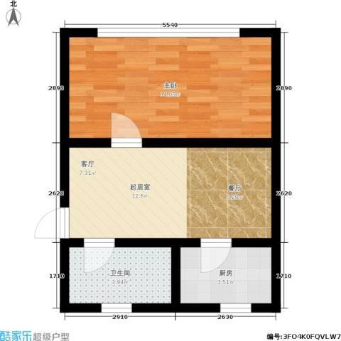 国都公寓1室0厅1卫1厨40.00㎡户型图