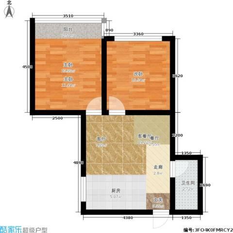 树园2室1厅1卫0厨53.00㎡户型图