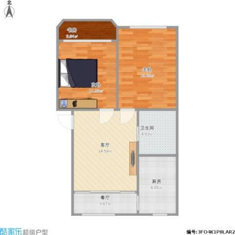 仁和花苑3室2厅1卫1厨76.00㎡户型图