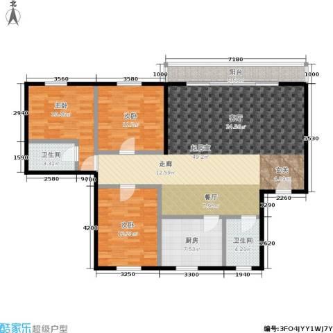 碧景园3室0厅2卫1厨116.00㎡户型图