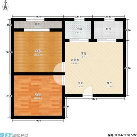 朝晖一区2室0厅1卫1厨60.00㎡户型图