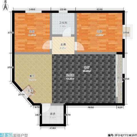 碧景园2室0厅1卫1厨86.00㎡户型图