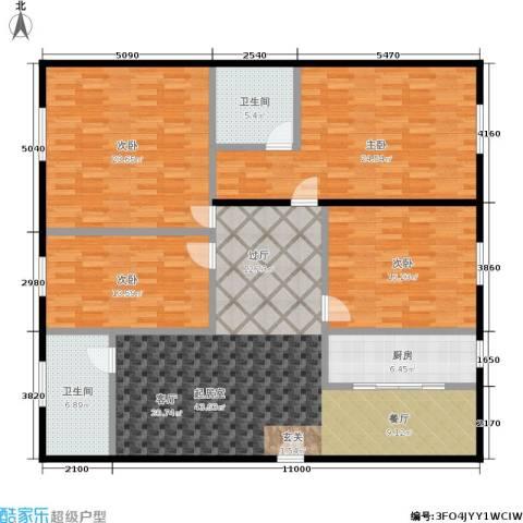 碧景园4室0厅2卫1厨155.00㎡户型图