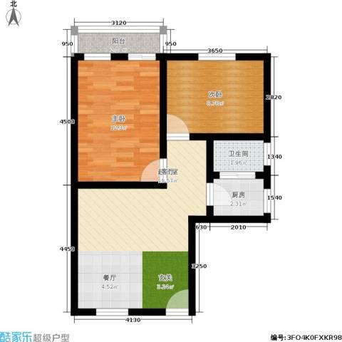 朝晖一区2室0厅1卫1厨55.00㎡户型图