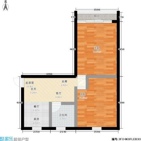 朝晖四区2室0厅1卫0厨55.00㎡户型图