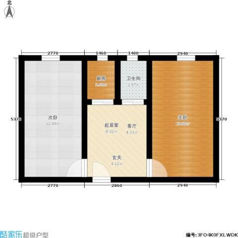 朝晖一区2室0厅1卫1厨46.00㎡户型图