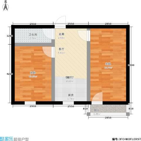 朝晖四区2室1厅1卫0厨48.00㎡户型图