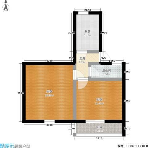 朝晖四区2室0厅1卫1厨49.00㎡户型图
