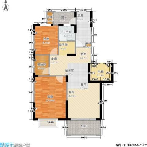 申亚瑞庭2室0厅1卫1厨114.00㎡户型图
