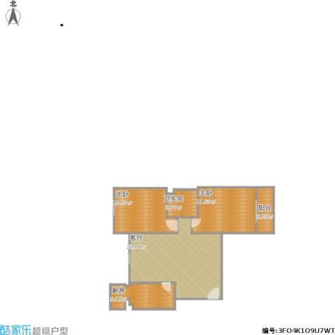 佳和雅庭2室1厅1卫1厨80.00㎡户型图