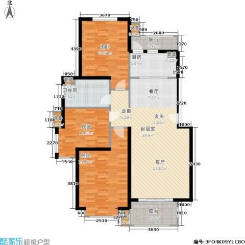 长宁馥邦3室0厅1卫1厨117.00㎡户型图
