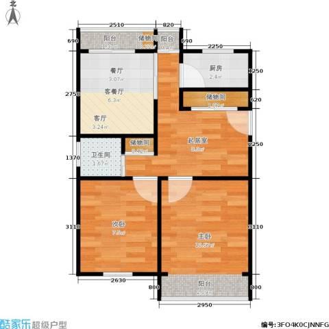 林司后小区2室1厅1卫1厨45.00㎡户型图