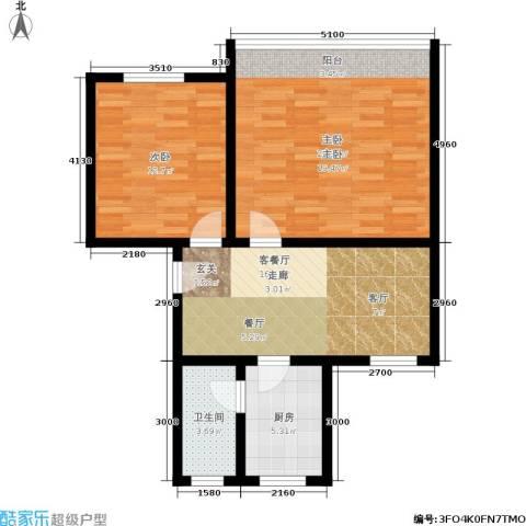 稻香园南区2室1厅1卫1厨70.00㎡户型图