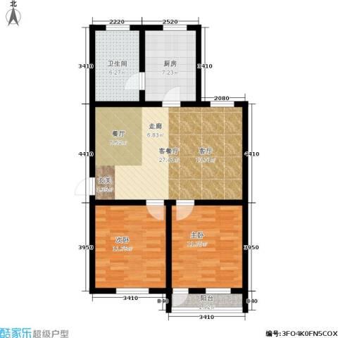 稻香园南区2室1厅1卫1厨76.00㎡户型图