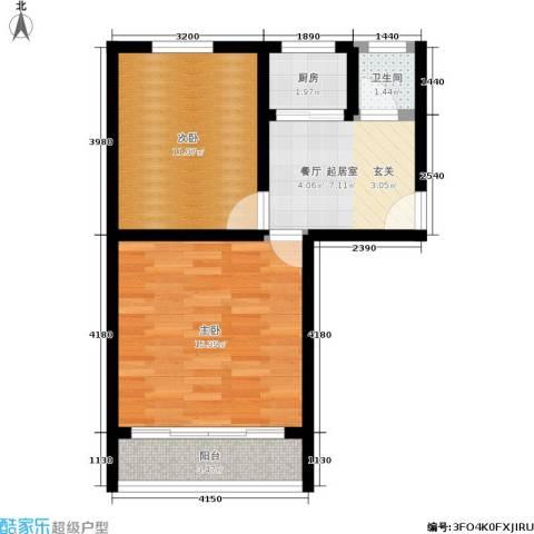 朝晖一区2室0厅1卫1厨48.00㎡户型图