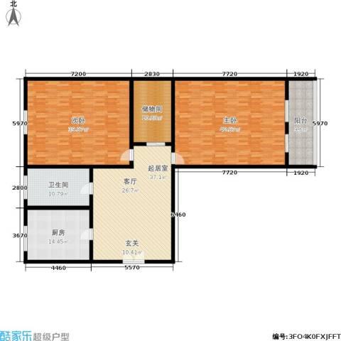 朝晖一区2室0厅1卫1厨165.56㎡户型图