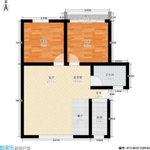 朝晖一区2室0厅1卫1厨65.00㎡户型图