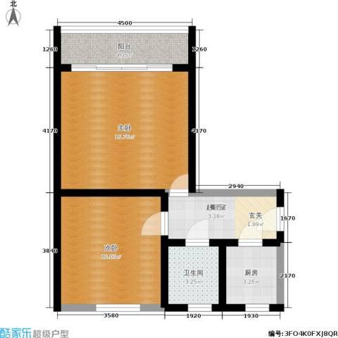 朝晖一区2室0厅1卫1厨53.00㎡户型图