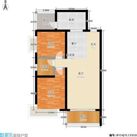 西溪里2室0厅1卫1厨118.00㎡户型图