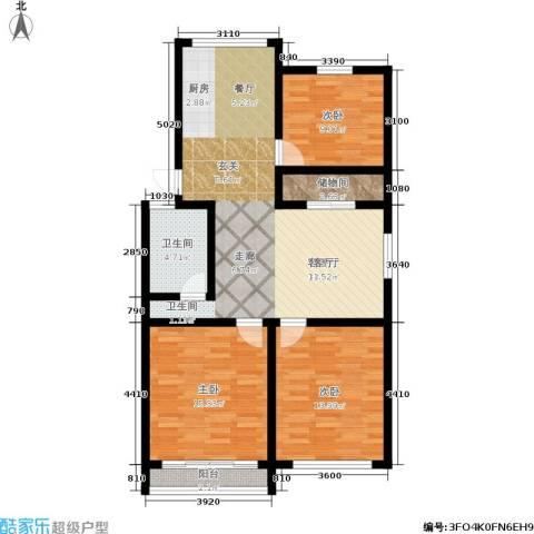 稻香园南区3室1厅1卫0厨95.00㎡户型图