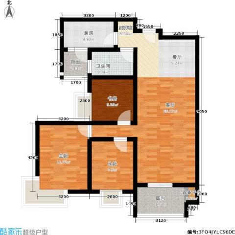 西溪里3室0厅1卫1厨106.00㎡户型图