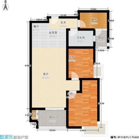 西溪里2室0厅1卫1厨90.00㎡户型图