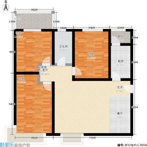 西溪里3室0厅1卫1厨115.00㎡户型图