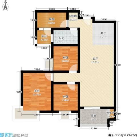 西溪里3室0厅1卫1厨113.00㎡户型图