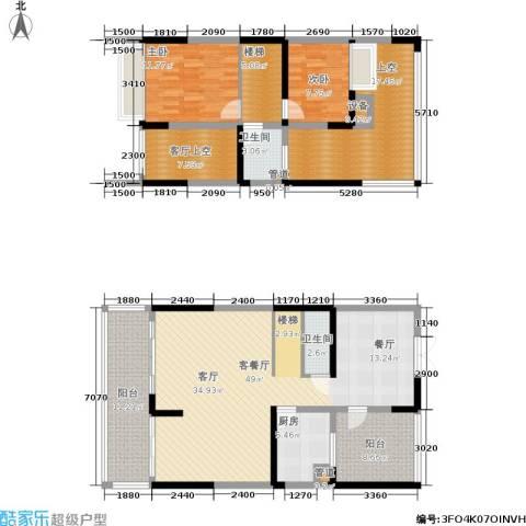 世纪春城2室1厅2卫1厨130.26㎡户型图