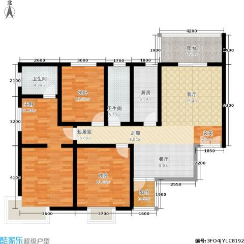 西溪里3室0厅2卫1厨141.00㎡户型图