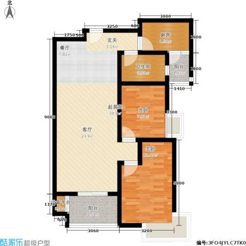 西溪里2室0厅1卫1厨95.00㎡户型图
