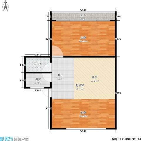 永康苑1室0厅1卫1厨68.00㎡户型图