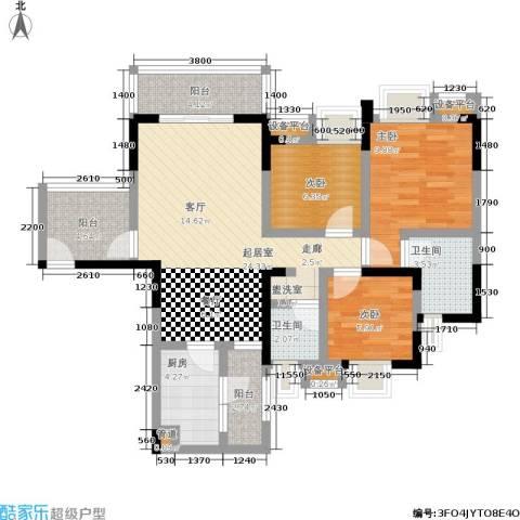 泰和苑3室0厅2卫1厨105.00㎡户型图