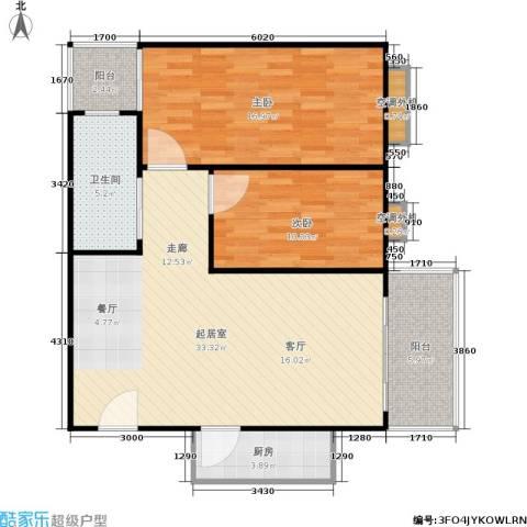 滨江花园2室0厅1卫1厨85.00㎡户型图