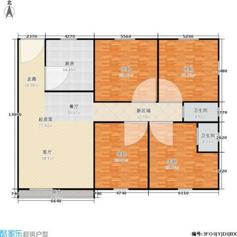 东海花园4室0厅2卫1厨234.00㎡户型图