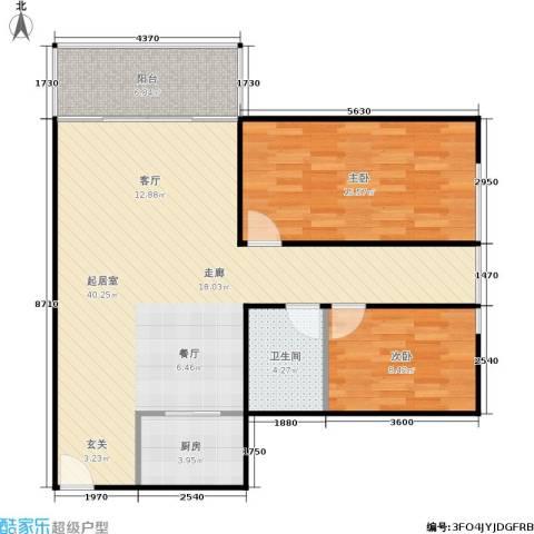 东海花园2室0厅1卫1厨80.00㎡户型图